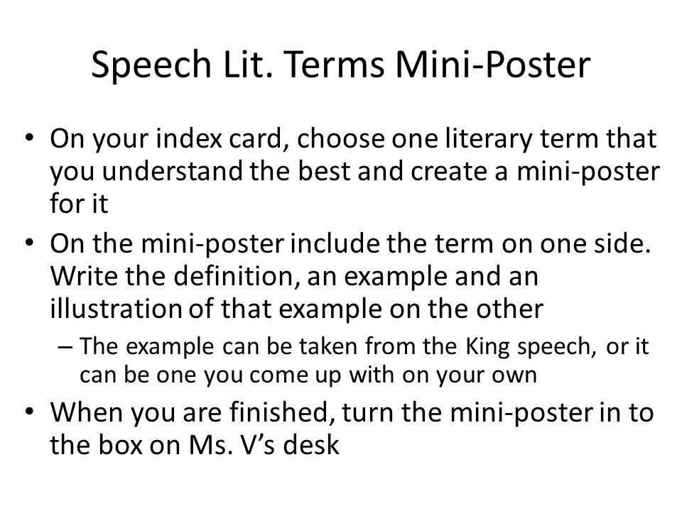 Speech Lit.