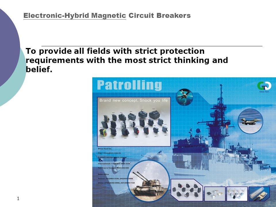 126 To provide all fields with strict protection requirements with the most strict thinking and belief. Electronic-Hybrid Magnetic Circuit Breakers