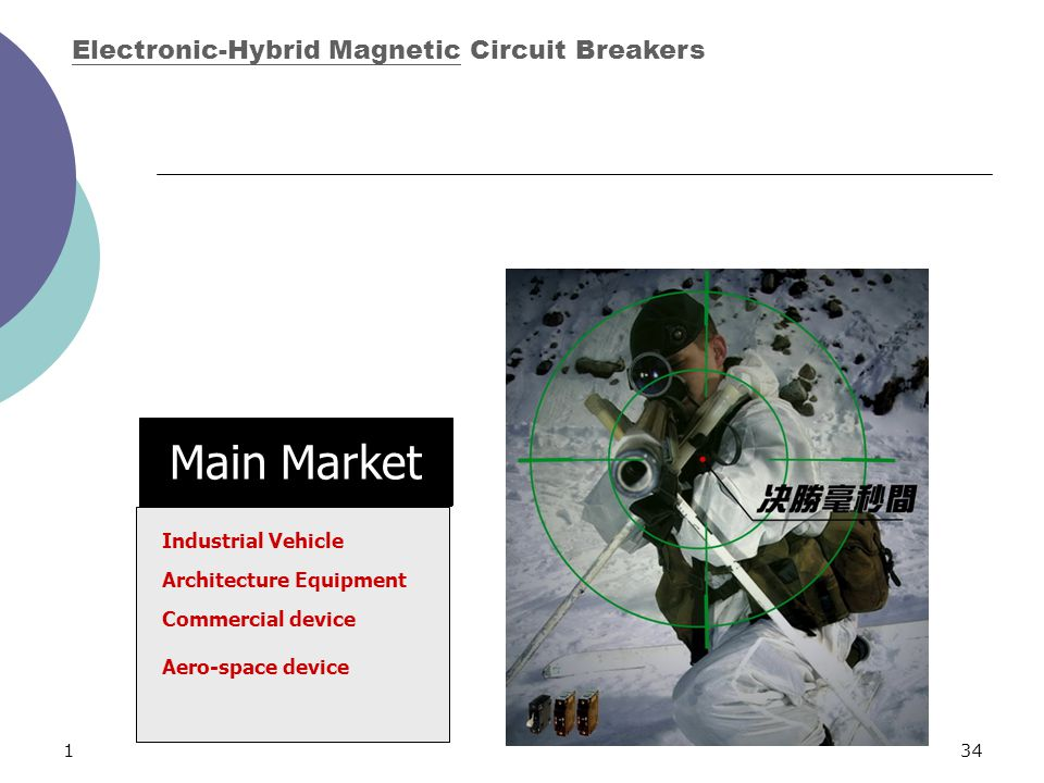 134 Main Market Electronic-Hybrid Magnetic Circuit Breakers Industrial Vehicle Architecture Equipment Commercial device Aero-space device