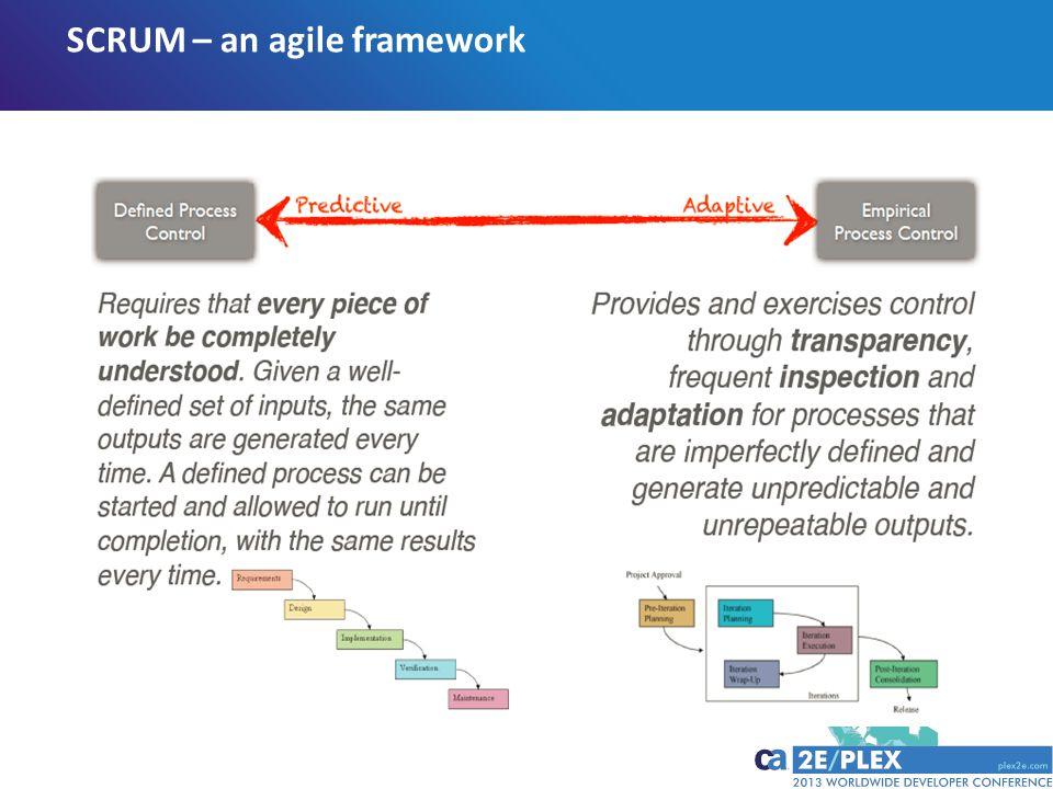SCRUM – an agile framework