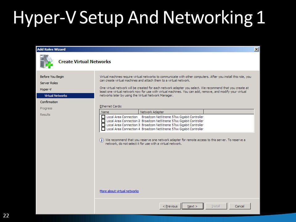22 Hyper-V Setup And Networking 1