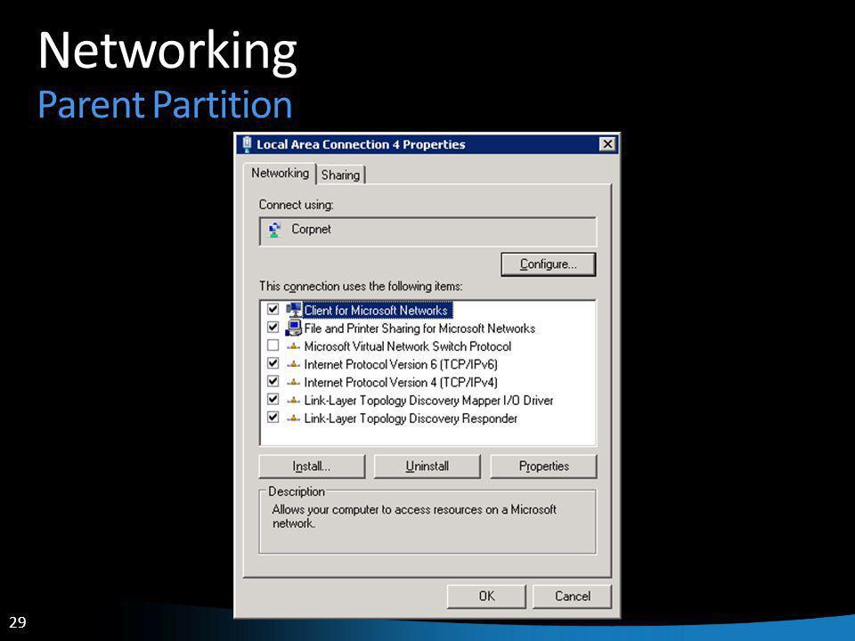 29 Networking Parent Partition