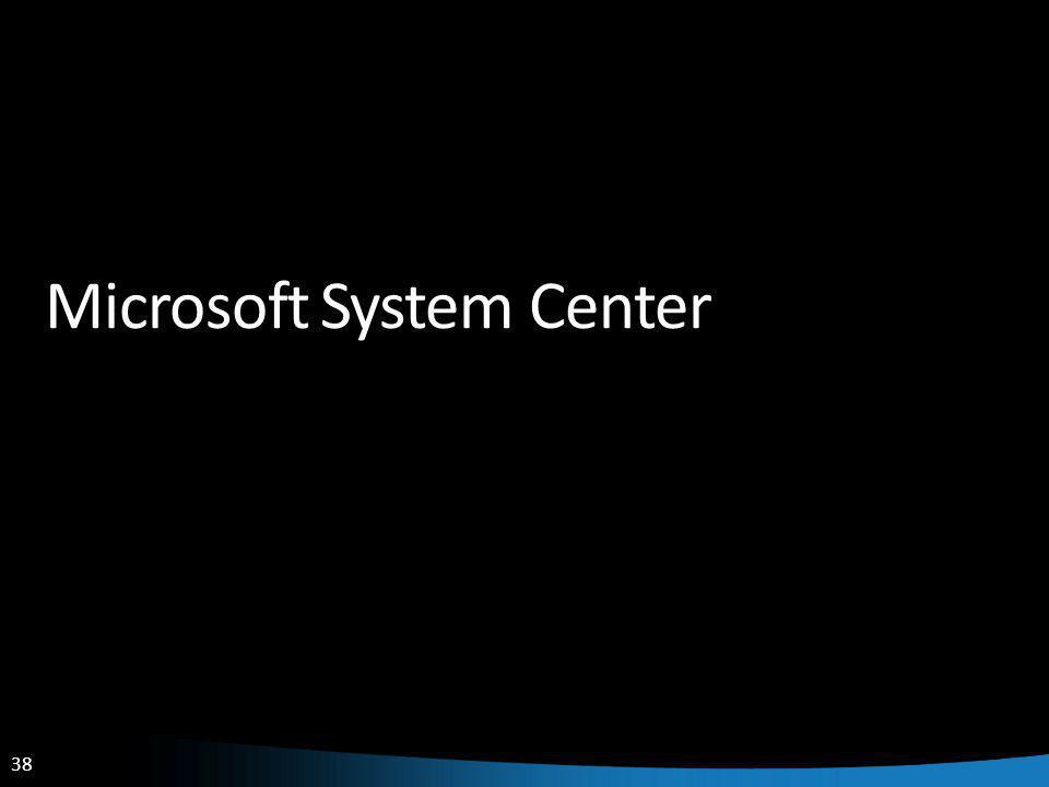 38 Microsoft System Center