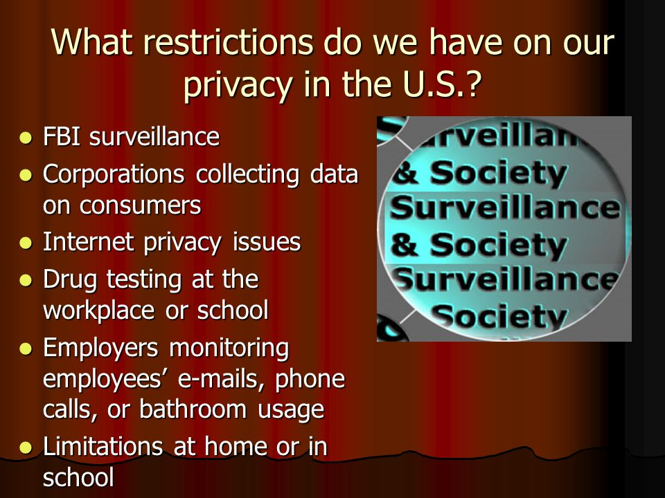 What restrictions do we have on our privacy in the U.S..