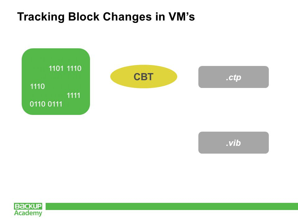 Tracking Block Changes in VM's 1001 0011 1010 0011 1101 1110 0001 1111 1011 1110 0101 1001 1010 1111 1111 0110 0111 1000.ctp.vib CBT