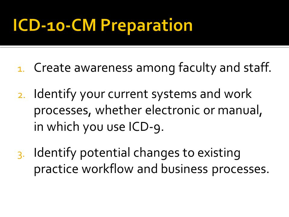 1.Create awareness among faculty and staff. 2.