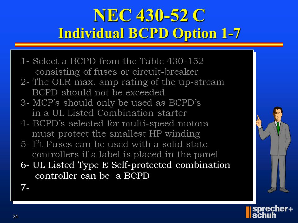 23     (4) Functions of a Combination Starter National Electric Code