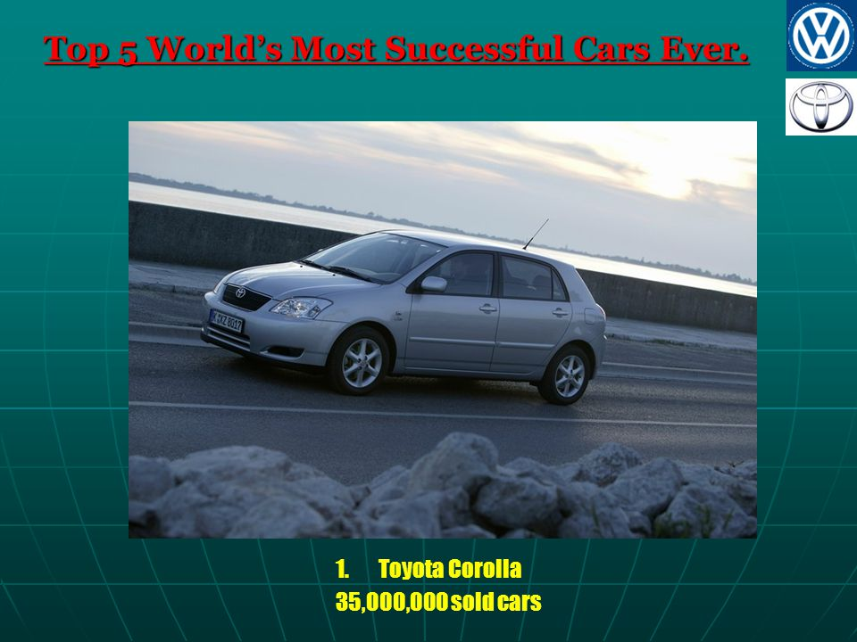 Top 5 World's Most Successful Cars Ever. 1.Toyota Corolla 35,000,000 sold cars