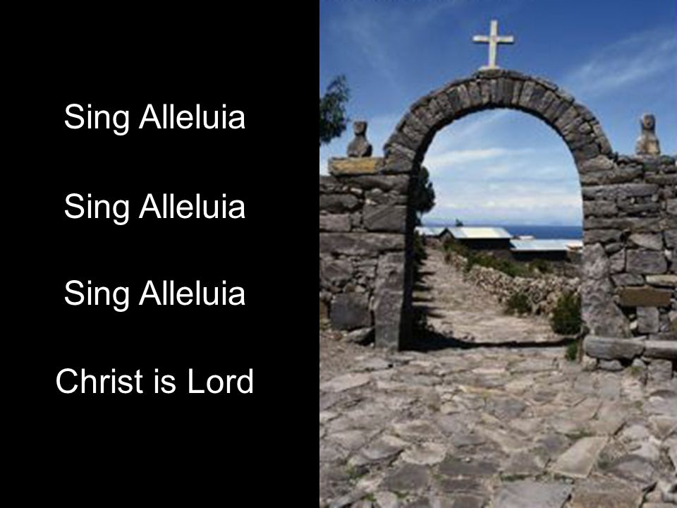 Sing Alleluia Christ is Lord