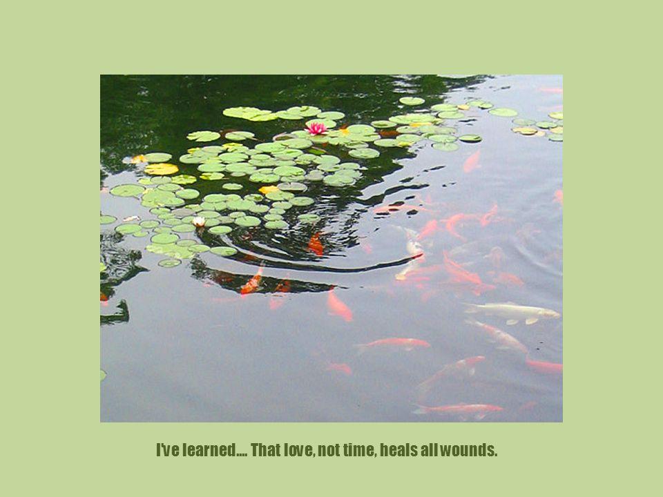 I ve learned....