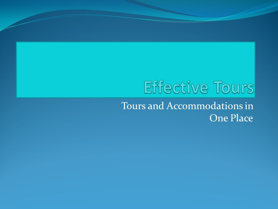 Tours and Accommodations in One Place