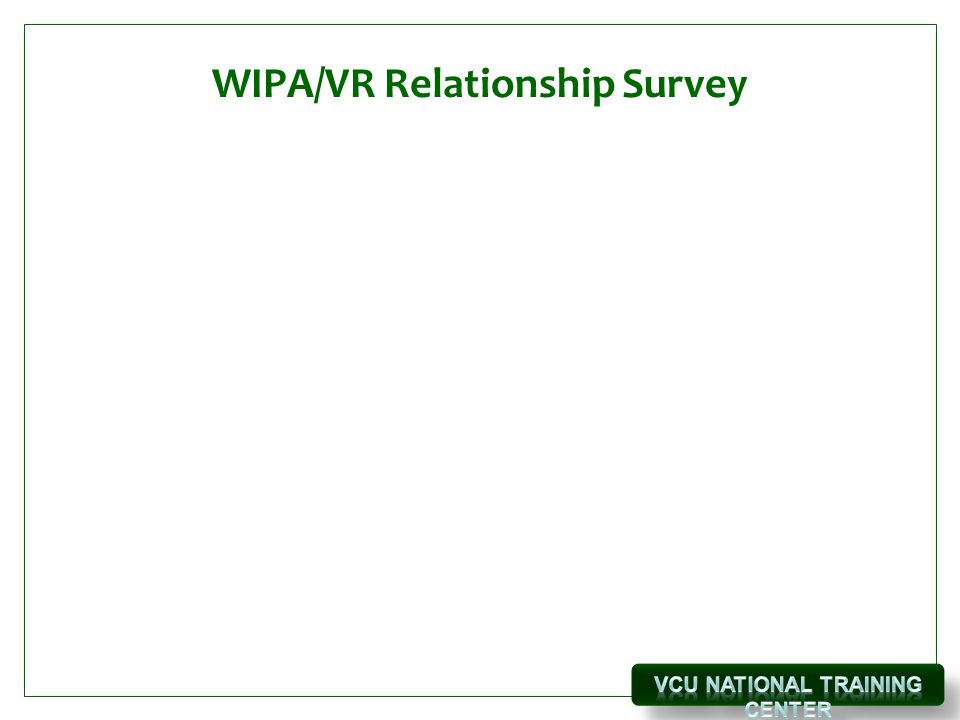 WIPA/VR Relationship Survey