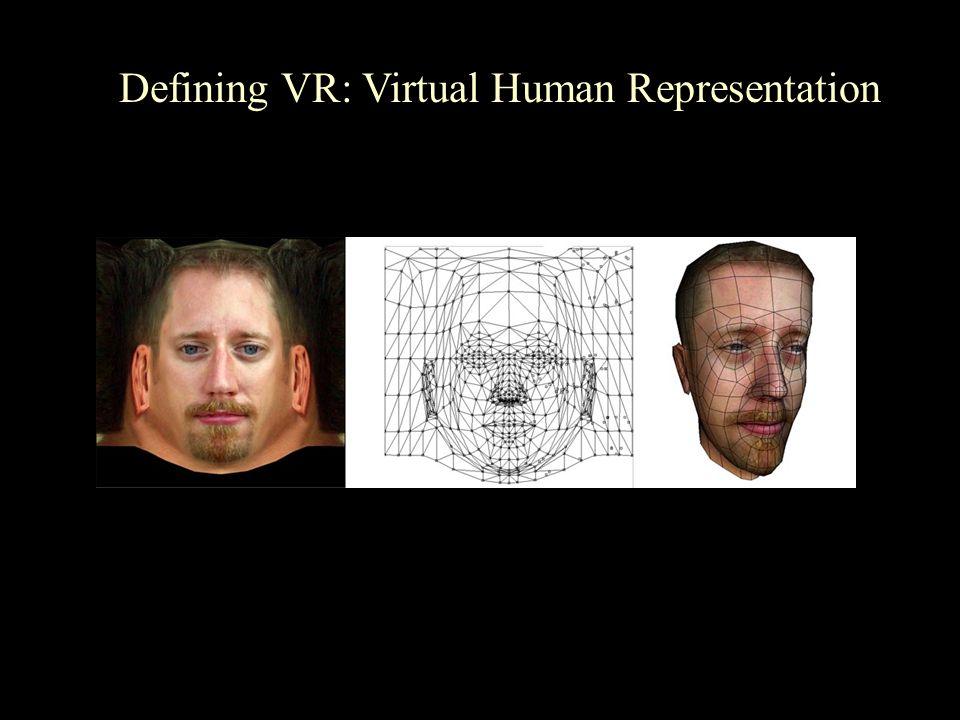 Defining VR: Virtual Human Representation