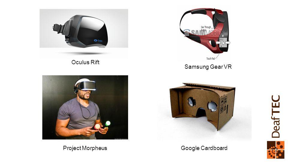 Oculus Rift Project Morpheus Samsung Gear VR Google Cardboard