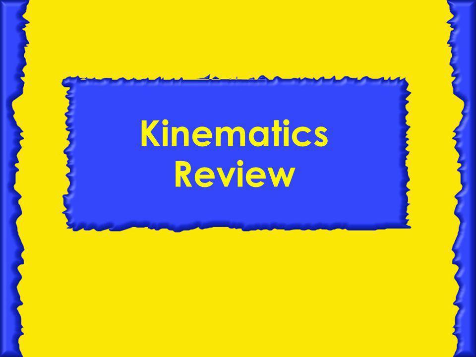 Kinematics Review