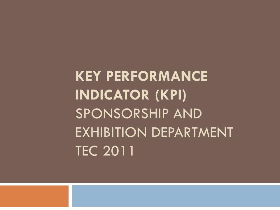 KEY PERFORMANCE INDICATOR (KPI) SPONSORSHIP AND EXHIBITION DEPARTMENT TEC 2011