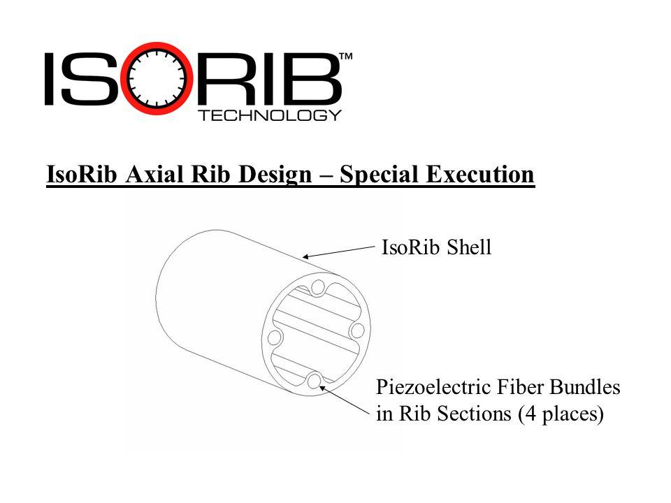 IsoRib Axial Rib Design – Special Execution IsoRib Shell Piezoelectric Fiber Bundles in Rib Sections (4 places)