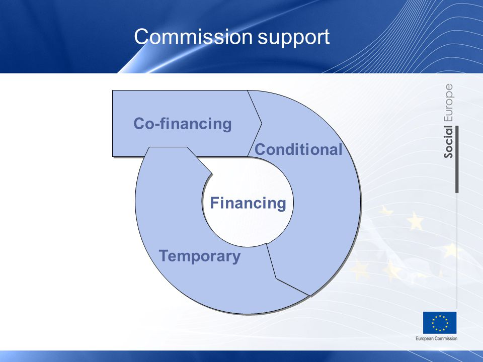 Commission support Temporary Co-financing Financing Conditional