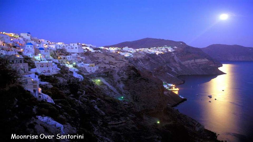 Sunset on the Island of Santorini