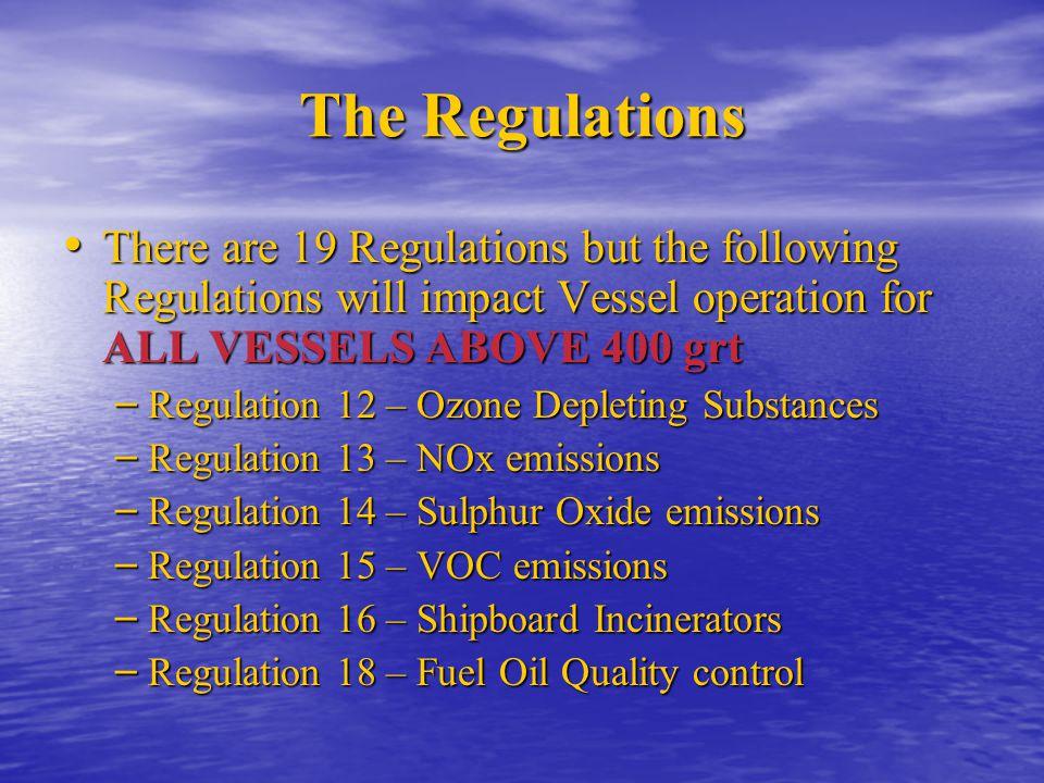 Regulation 12 Ozone Depleting Substances Deliberate Emissions of Ozone Depleting Substances (HFCs) are prohibited Deliberate Emissions of Ozone Depleting Substances (HFCs) are prohibited New installations can only use HCFCs (hydrochlorofluorocarbons) until 1 st Jan 2020.