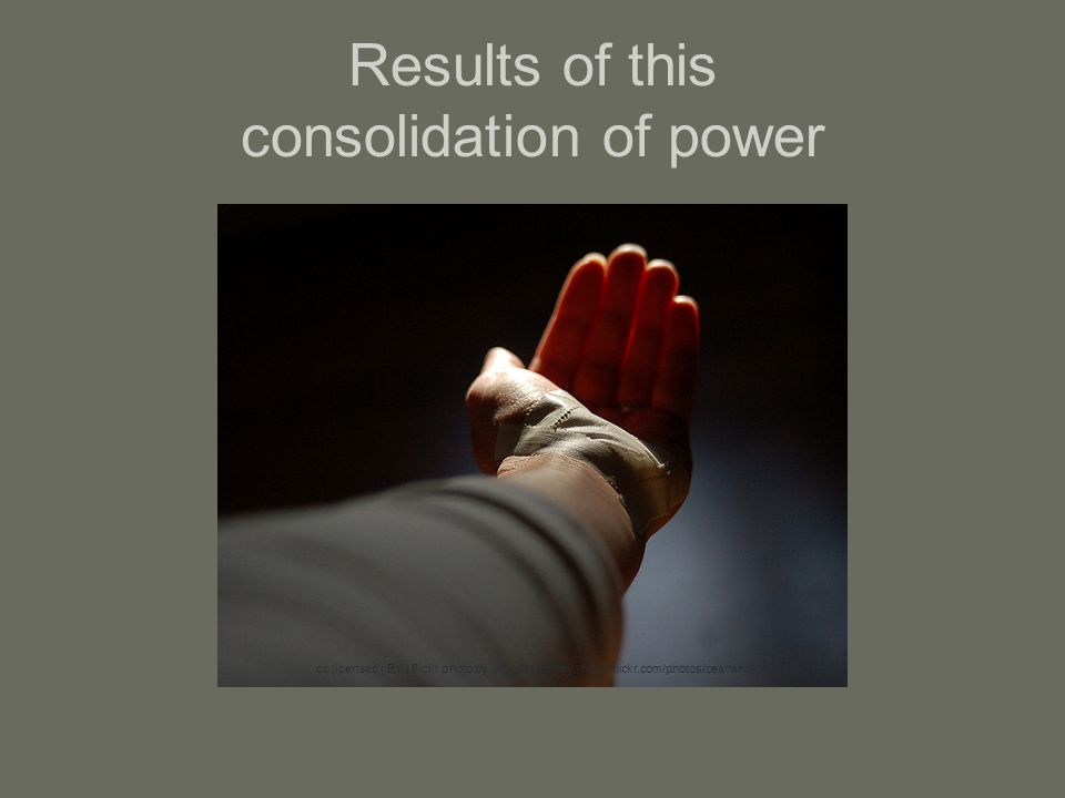 Results of this consolidation of power cc licensed ( BY ) flickr photo by.jennifer donley.: http://flickr.com/photos/ceanandjen/3238421824/