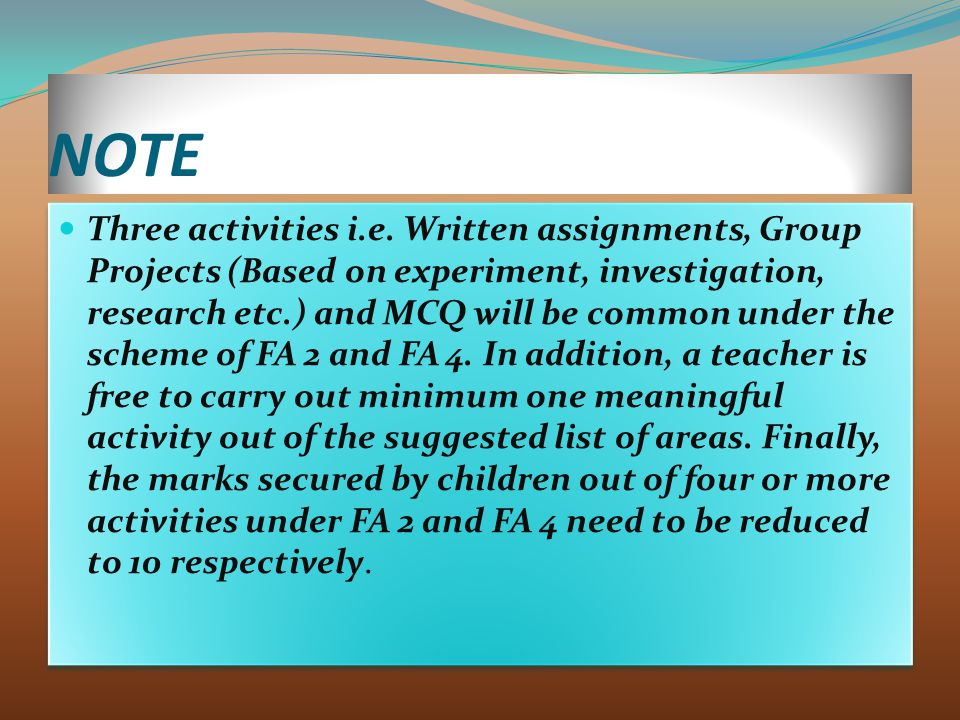NOTE Three activities i.e.