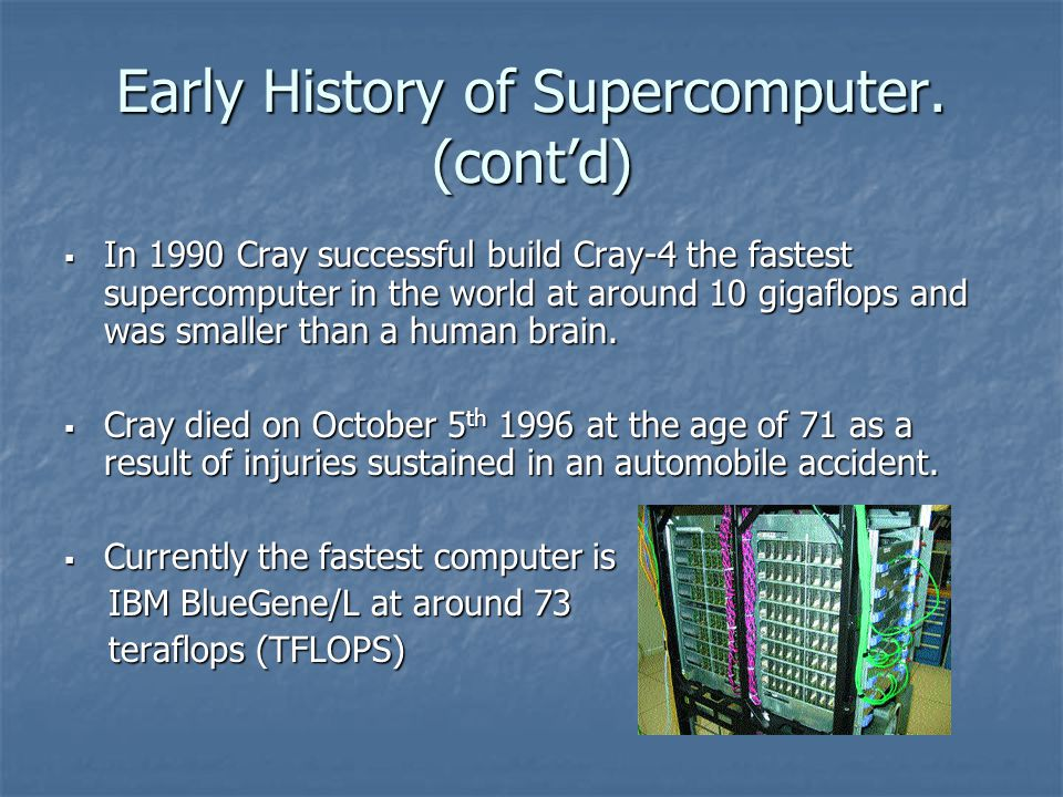 Early History of Supercomputer.