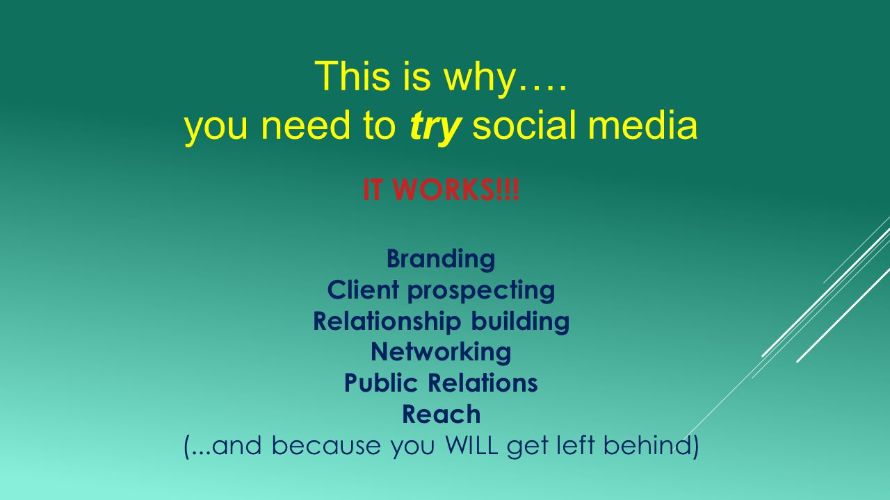 This is why…. you need to try social media IT WORKS!!.
