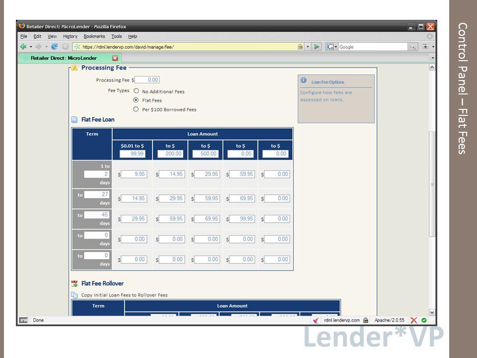 Lender*VP Dashboard