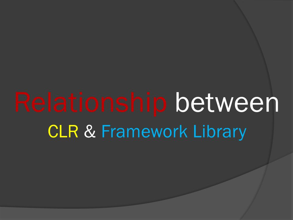 Relationship between CLR & Framework Library