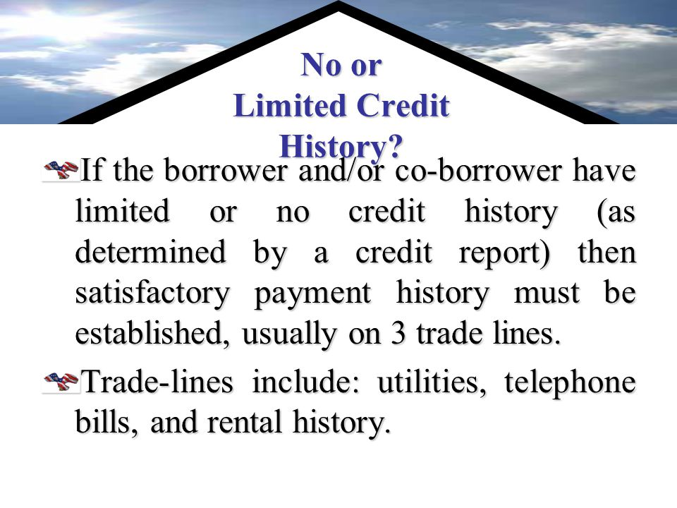 Credit Requirements The VA loan underwriter will analyze a borrowers credit in order to determine approval.