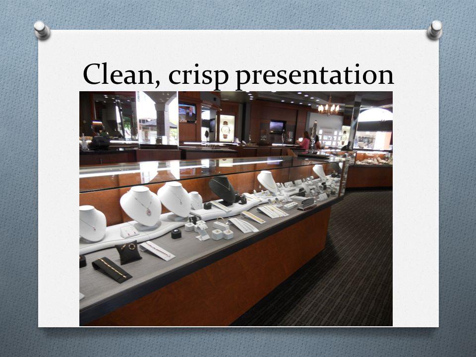 Clean, crisp presentation