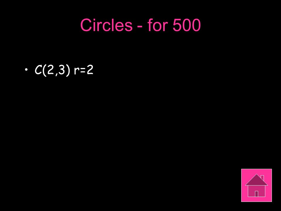 Circles - for 500 C(2,3) r=2
