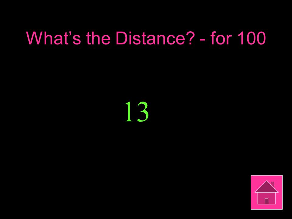 What's the Distance? - for 100 13
