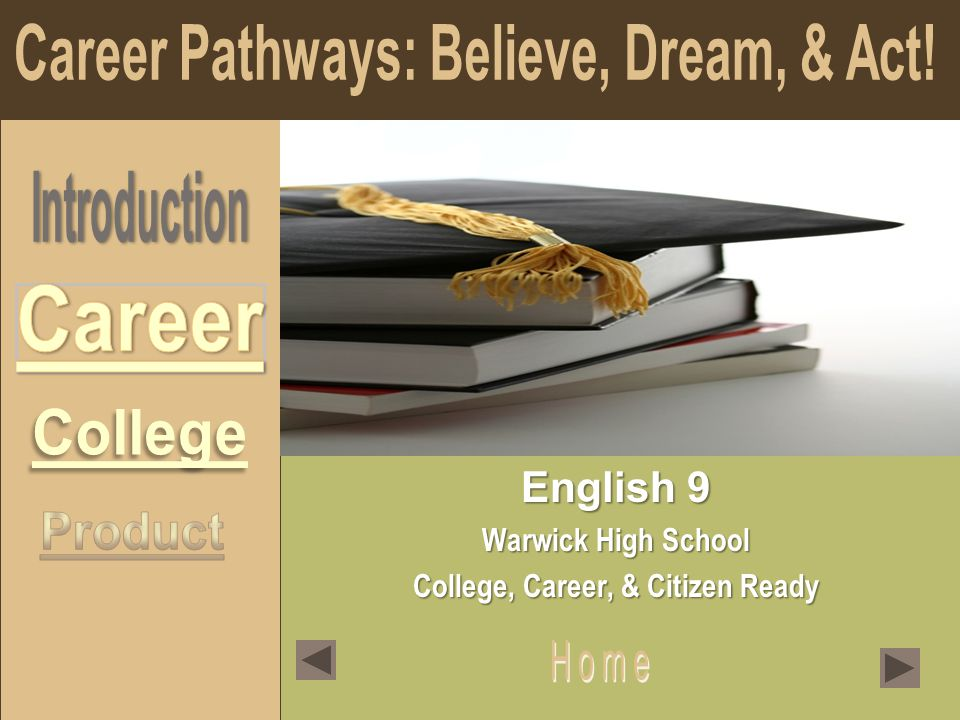 English 9 Warwick High School College, Career, & Citizen Ready