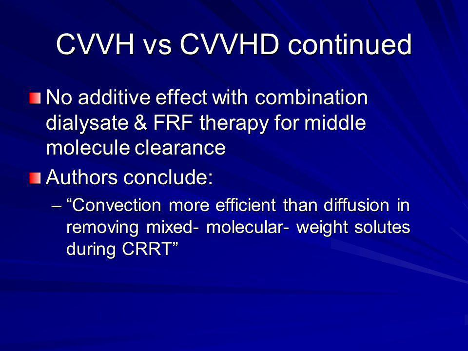 Drug & Toxin Clearance Drug/Toxin Clearance –Molecular Weight –Protein Binding –Vd –Membrane composition As MW increases diffusive drug clearance declines more than convective clearance