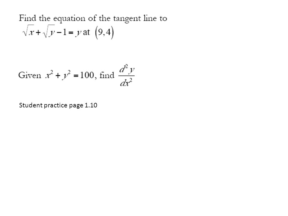 Student practice page 1.10