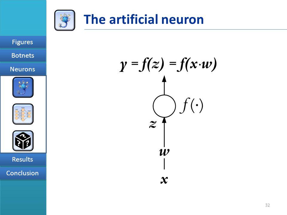 32 Figures Results Conclusion Neurons Botnets The artificial neuron