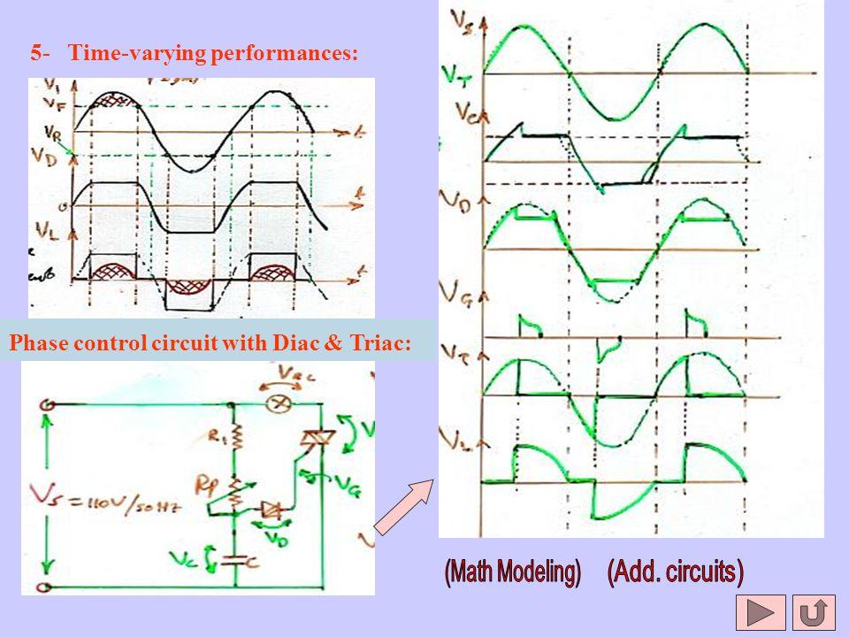 5- Time-varying performances: Phase control circuit with Diac & Triac: