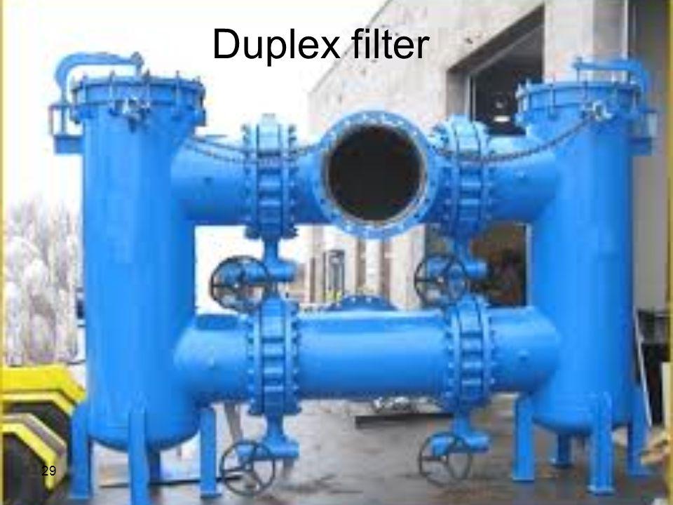 Duplex filter 29