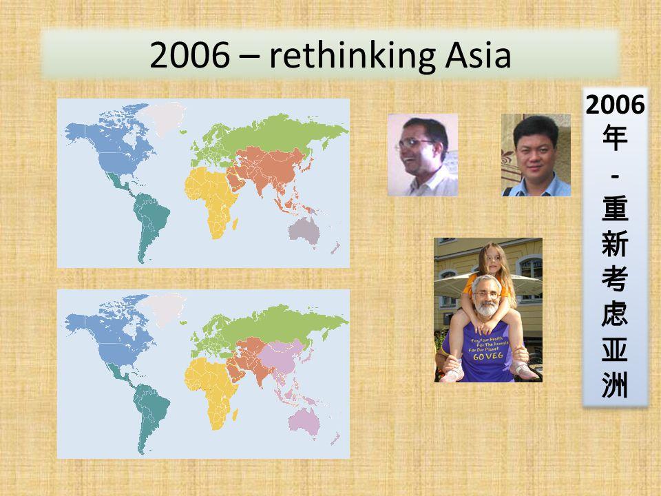 2006 – rethinking Asia 2006 年 - 重 新 考 虑 亚 洲 2006 年 - 重 新 考 虑 亚 洲