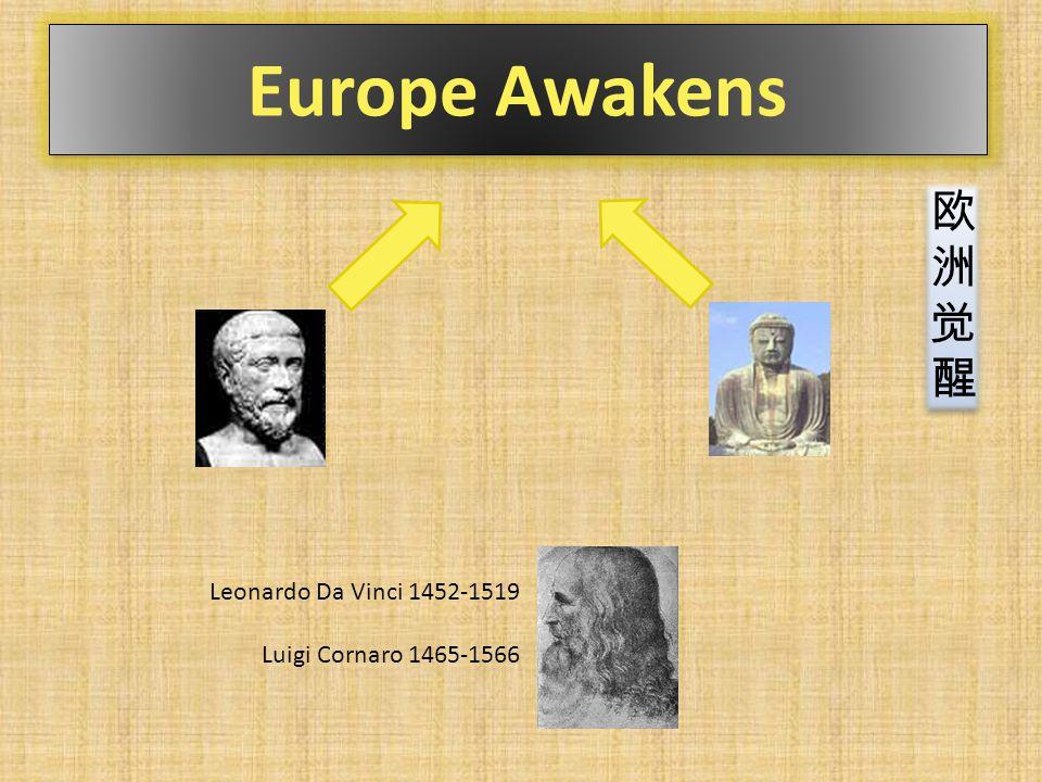 Europe Awakens Leonardo Da Vinci 1452-1519 Luigi Cornaro 1465-1566 欧洲觉醒欧洲觉醒 欧洲觉醒欧洲觉醒