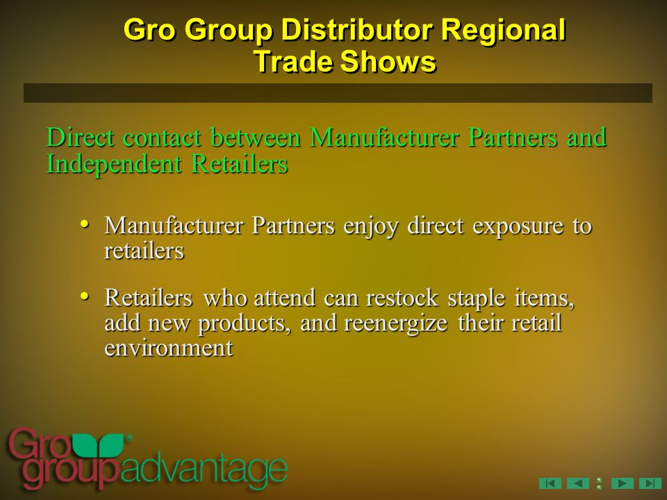 Gro Group Distributor Regional Trade Shows