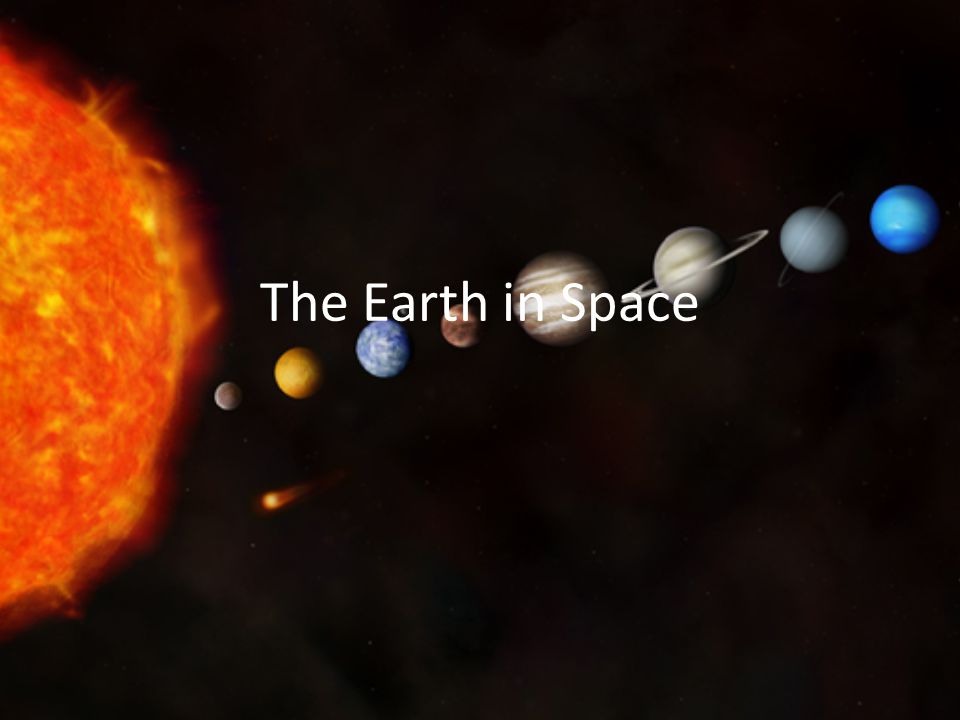 Day and Night The Earth is a sphere (actually, it's an oblate spheroid – a very slight rugby ball shape) The Earth orbits the Sun in a path that is egg- shaped – an ellipse.