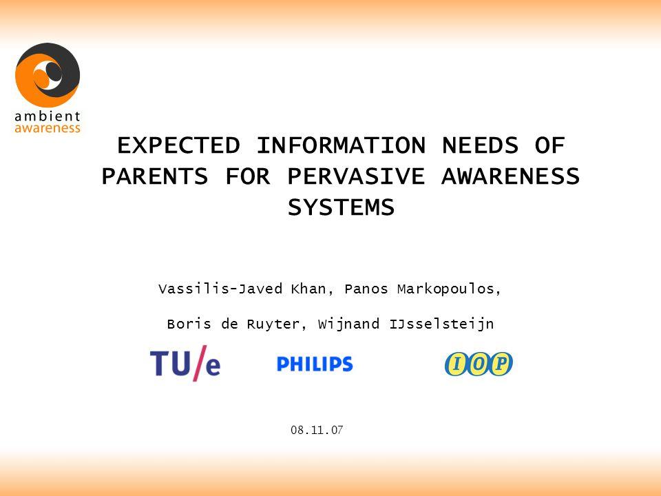 MORE INFO HTTP://WWW.AWARENESS.ID.TUE.NL v.j.khan@tue.nl