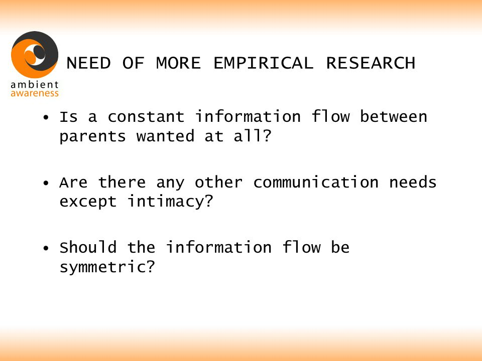 RESULTS Method: In both cases no statistically significant difference between the two, =>There is no difference in asking in a 1 step or 2 steps, =>There is a symmetry in communication needs.