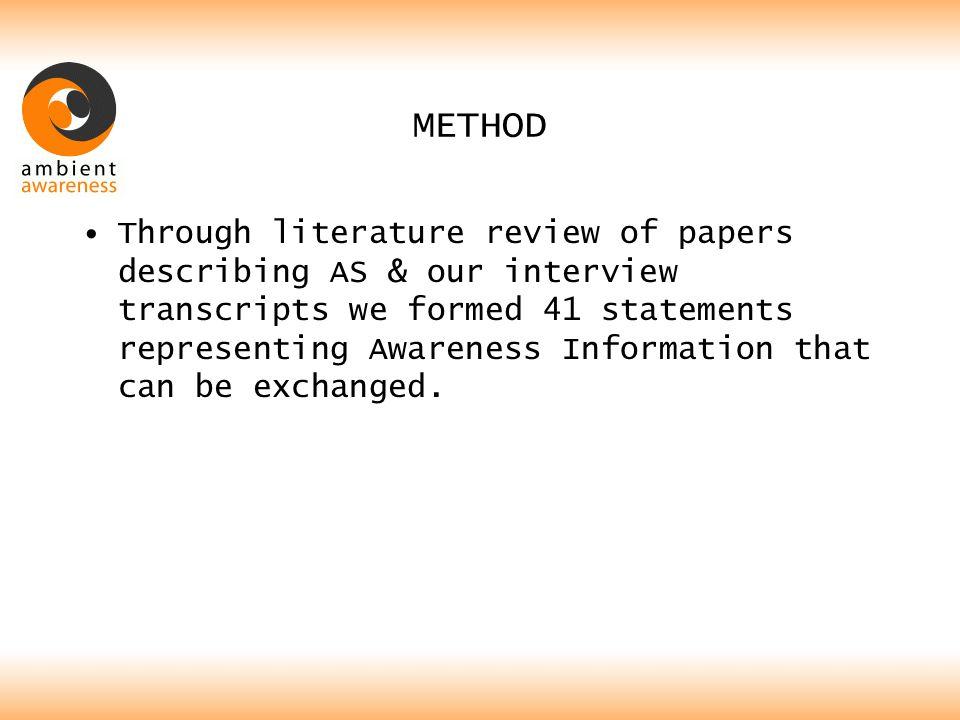 METHOD: EXAMPLE OF STATEMENT
