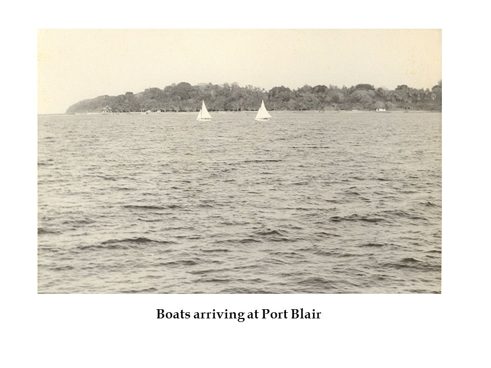 Boats arriving at Port Blair