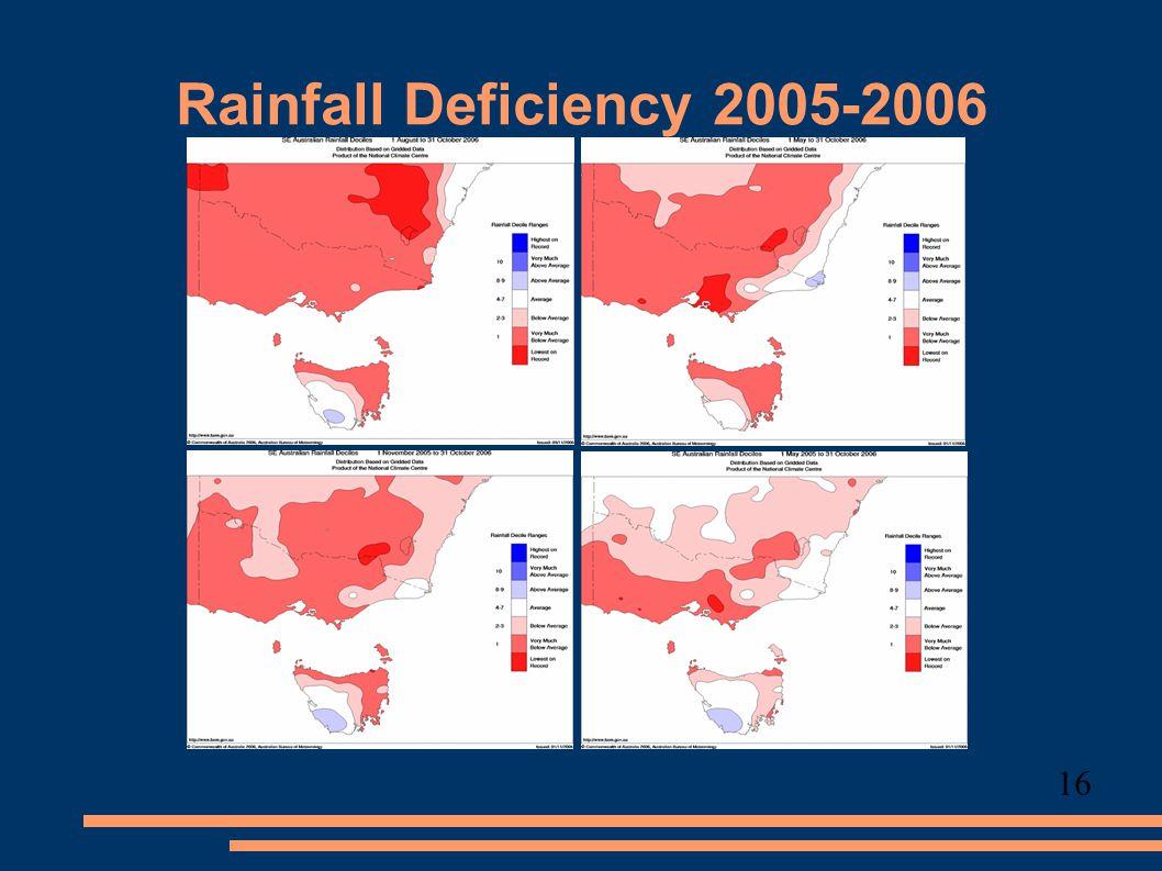 Rainfall Deficiency 2005-2006 16