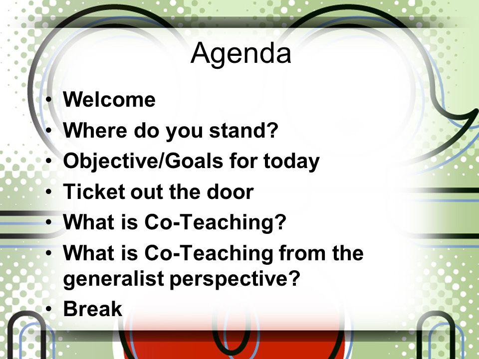 Agenda Welcome Where do you stand.